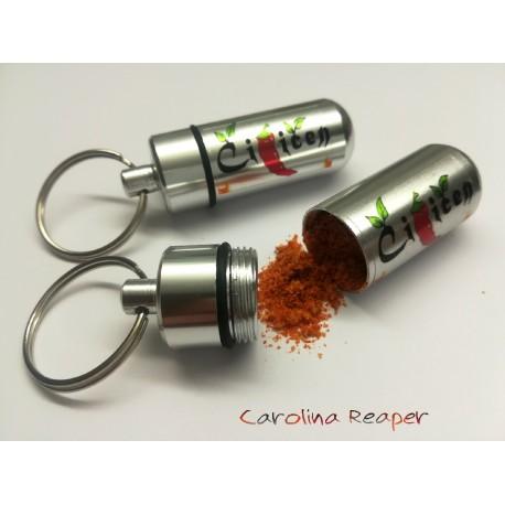 Obesek za ključe, Čiličen kapsula napolnjena s prahom Caroline Reaper